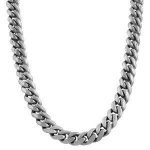 Other - 61 gram Cuban mens link chain necklace white gold